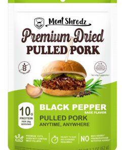 Simply Meat Shredz Black Pepper Sage Dried Shredded Pulled Pork